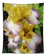 Tall Bearded Iris Named Butterfingers Tapestry