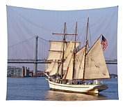 Tall Ship Three Tapestry