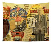 Tallest Man Sign Tapestry