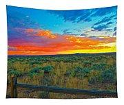 Taos Sunset Ix Tapestry