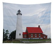 Tawas Point Lighthouse Tapestry