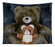 Teddy Elder Care Bear Tapestry