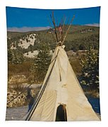 Teepee In The Snow 2 Tapestry