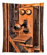 Telephone - Antique Hand Cranked Phone Tapestry