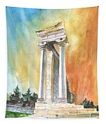 Temple Of Apollo In Kourion Tapestry
