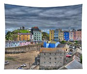 Tenby Harbour In Summer 2 Tapestry