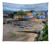 Tenby Harbour In Summer Tapestry