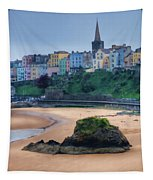 Tenby Over North Beach Painted Tapestry