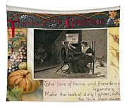 Thanksgiving Card, 1909 Tapestry