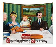 Thanksgiving Card, 1910 Tapestry
