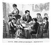 Thanksgiving Dinner, 1873 Tapestry