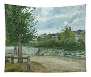 The Banks Of The Oise At Pontoise Tapestry