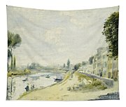 The Banks Of The Seine At Bougival Tapestry