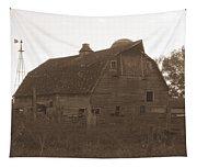 The Barn 3 B/w Tapestry