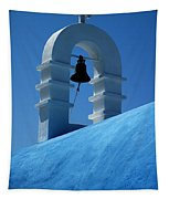 The Bell Tower In Mykonos Tapestry