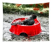 The Birdbath  Tapestry