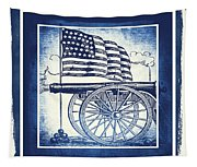 The Bombs Bursting In Air Blue Tapestry