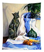 The Cat And The Cloth Tapestry