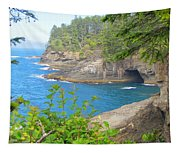 The Caves Of Cape Flattery  Tapestry