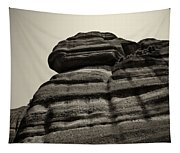 The Cliff Bw Tapestry