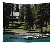 The Dock At Sugar Pine Point State Park Tapestry