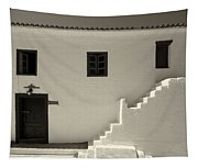 The Door Of The Chappel Bw Tapestry