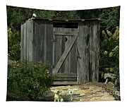 The Double Seat Outhouse Tapestry