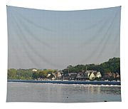 The Fairmount Dam And Boathouse Row Tapestry