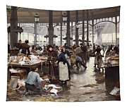 The Fish Hall At The Central Market  Tapestry