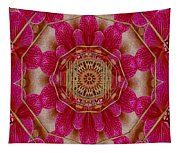 The Golden Orchid Mandala Tapestry