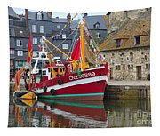 The Historic Fishing Village Of Honfleur Tapestry