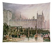 The Houses Of Parliament In Course Of Erection Tapestry