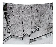 The Hundred Steps In The Snow Tapestry