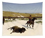 The Last Of The Herd Tapestry