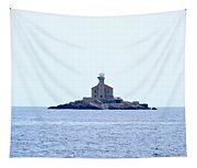 The Lighthouse Close To Primosten Tapestry