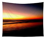 The Lines Of Sunrise  Tapestry