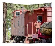 The Little Red Caboose Tapestry