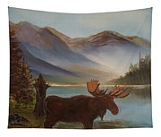 The Mountain Moose Tapestry