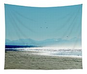 The Mountains And The Pier Tapestry