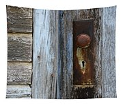 The Old Blue Door Tapestry