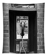 The Payphone - Black And White Tapestry