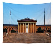 The Philadelphia Museum Of Art Front View Tapestry