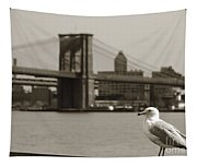 The Seagull Of The Brooklyn Bridge Tapestry