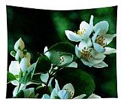 The Soft White Blossom  Tapestry