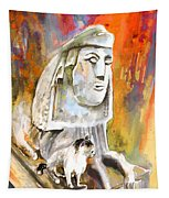 The Sphinx Of Petraion Tapestry