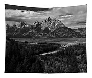 The Tetons - Il Bw Tapestry