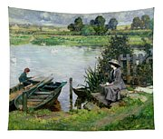 The Thames At Benson Tapestry