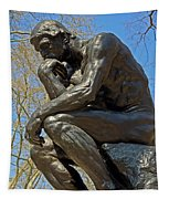 The Thinker By Rodin Tapestry
