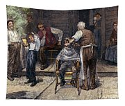The Village Barber, 1883 Tapestry