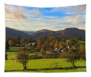 The Village Of Watermillock In Cumbria Uk Tapestry